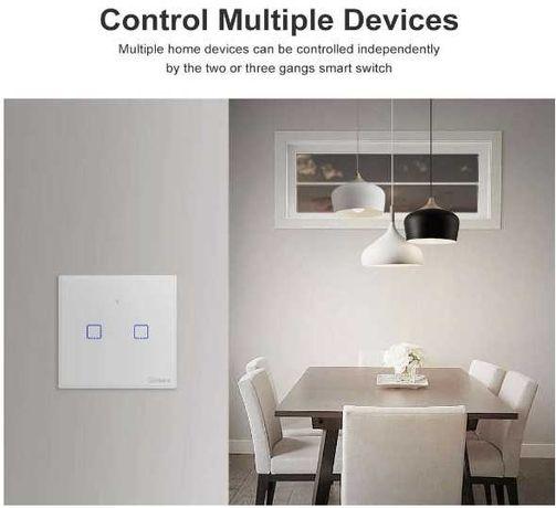 Interruptor Inteligente duplo Wi-Fi - Sonoff T2EU2C-TX
