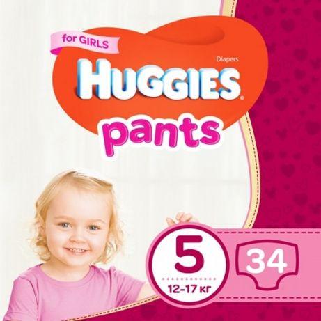 Трусики Huggies pants 5 for girl 34 шт