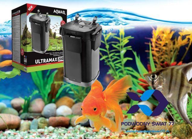 Aquael Ultramax, 1000, 1500, 2000 filtr zewnętrzny nowy - akwarium