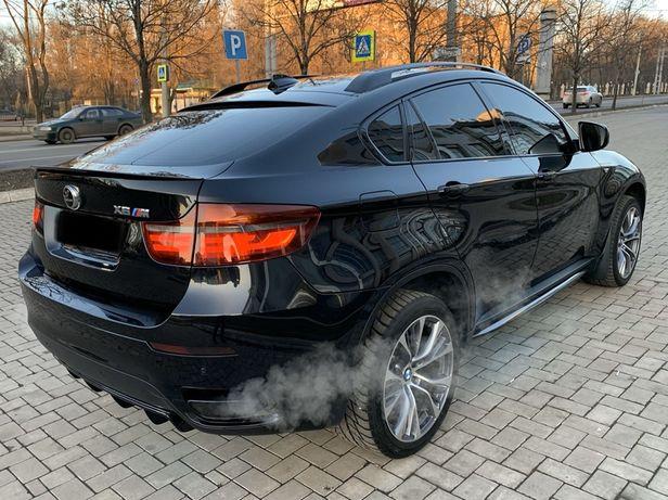Черные рейлинги на крышу BMW X6 E71