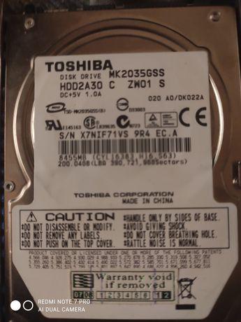Жёсткий диск 200gb Toshiba для ноутбука