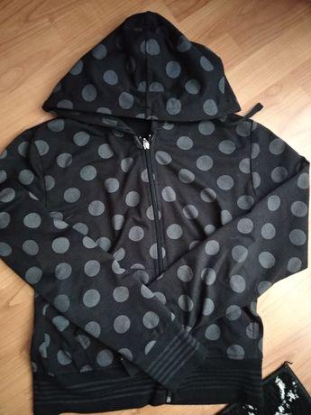 Bluza emo dark alternative czarna fioletowa