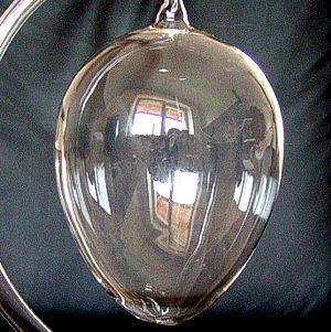 WIELKIE JAJO SZKLANE Bombka szklana jajko ze szkła GRUBE SOLIDNE