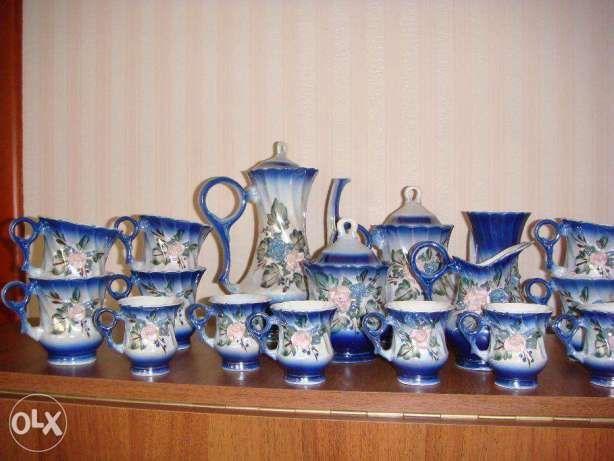 новый чайно - кофейный набор из 17 предметов.
