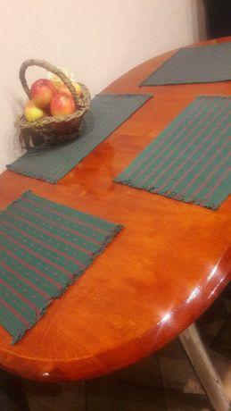 Podkładka obiadowa pod talerz,nakładka bawełniana na stół zieleń 4 szt