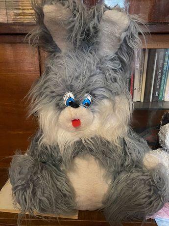 Серый заяц мягкая игрушка