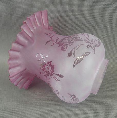 Różowo-biały TULIPAN klosz LAMPA NAFTOWA 8,4 cm