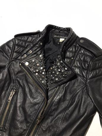 Женская кожаная куртка , косуха h&m leather divided exclusive