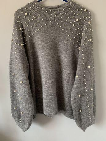 Sweter szary perełki c'est_monique M