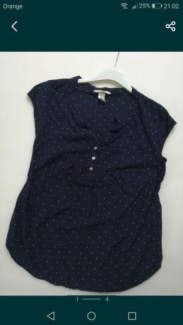 3 bluzki koszule HM mama xs- gratis spodnie hm mama i sukienka ciążowa