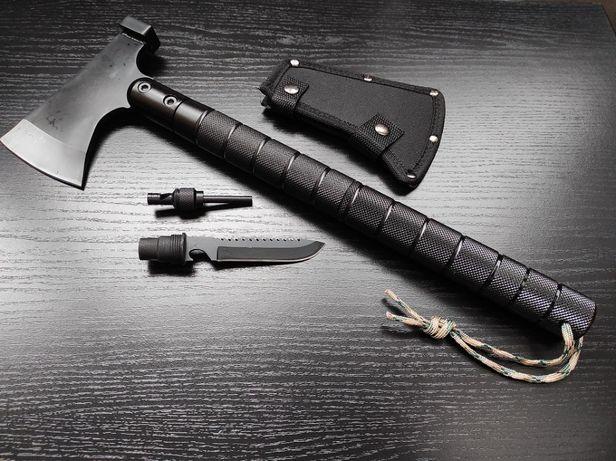 Многофункциональный топор с ножом, стеклобоем и компасом
