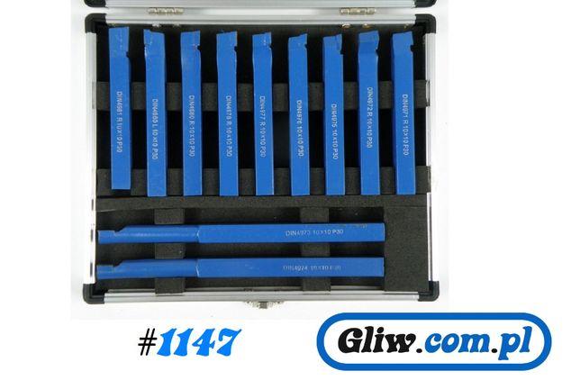 #1147 Noże tokarskie 10x10 mm 11szt. kpl nóż tokarka
