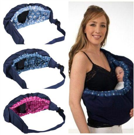 Porta-bebé em echarpe