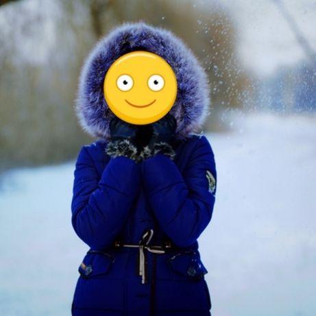 Очень теплый зимний пуховик/парка на тинсулейте