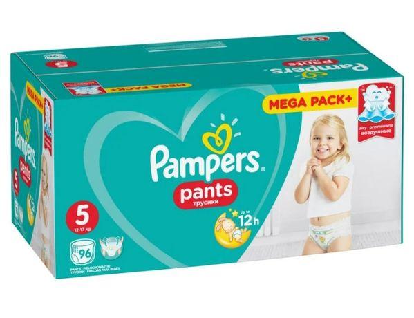 Подгузники-трусики Pampers Pants 5 (12-17 кг), 96 шт. Підгузки памперс