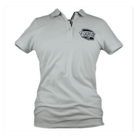 Biała koszulka jeździecka polo M/L