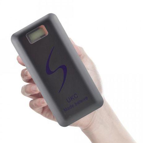 Внешний акумулятор Power bank UKC 30000 mAh c фонариком и экраном Blac