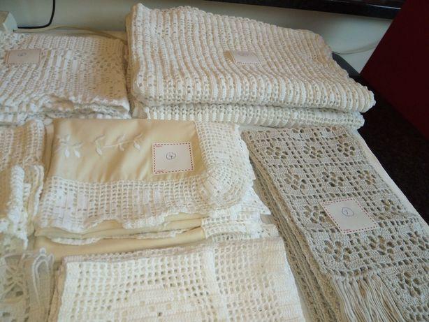 rendas crochets bordados novos