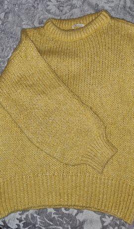 Camisola de lã amarela Zara kids