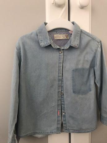 ZARA koszula/ bluzka jeans rozmiar 86