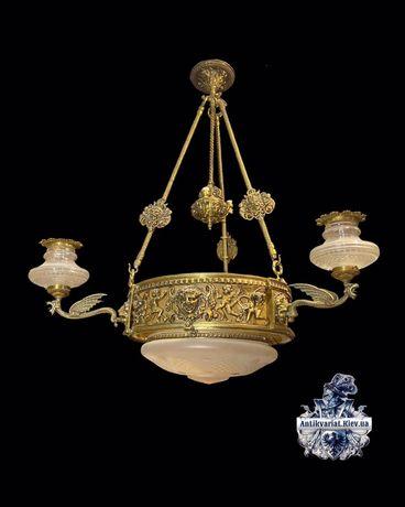 антикварная бронзовая люстра винтажная лампа антикварный светильник