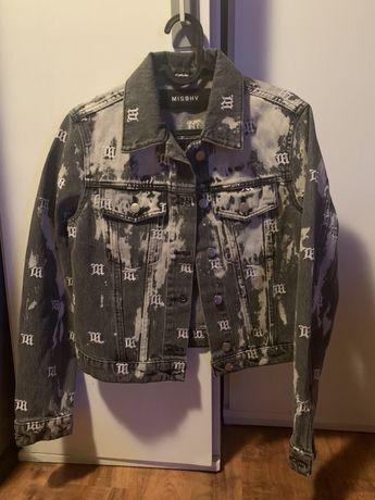 misbhv acid monogram denim jacket