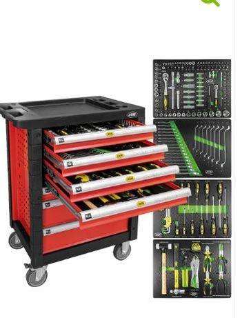 carro ferramentas 7 gavetas vermelho