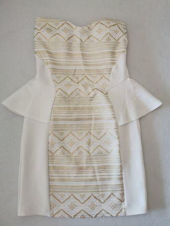Sukienka biała złota r. 38