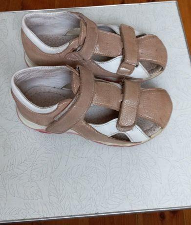 Босоножки туфли кожаные ортопедические ортопеды цвет пудра 18.8-19см
