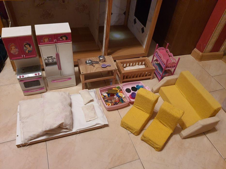 Wypos. domku dla barbie do kuchni sypialni dzieci dziennego handmade Katowice - image 1
