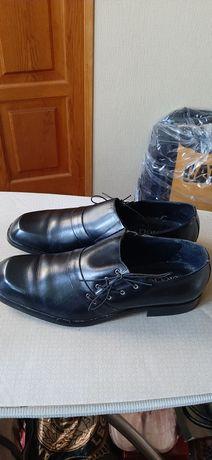 Туфли черные кожанные мужские