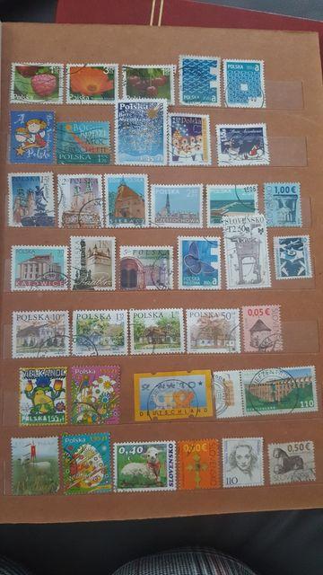 Zestaw 37szt znaczki pocztowe