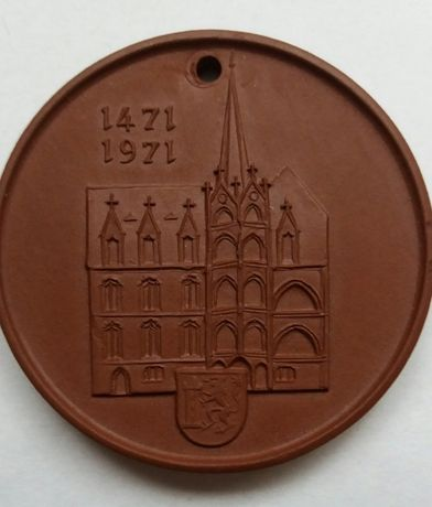 n10 x medal zawieszka porcelana miśnia zamek 1471 sygnowany