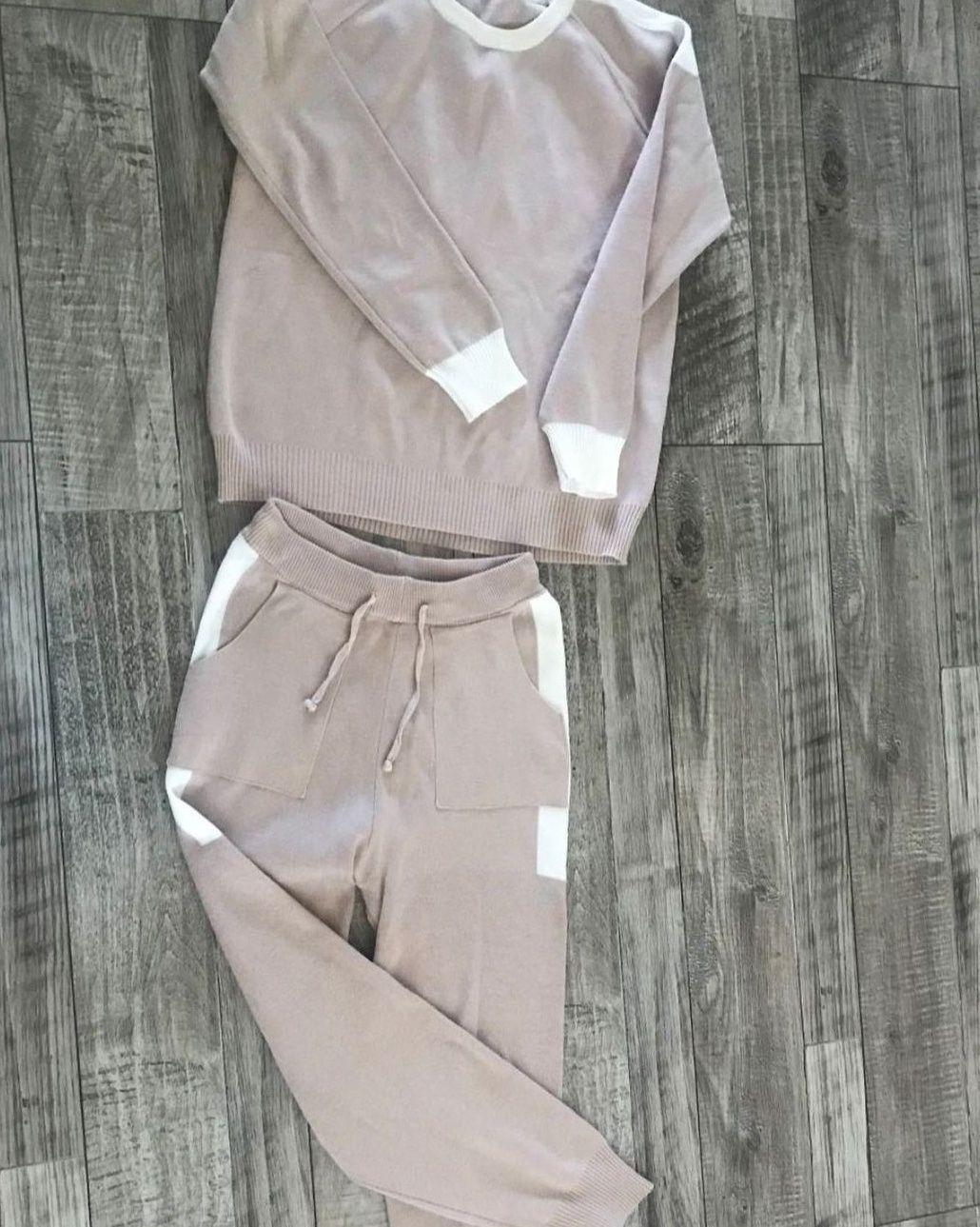 Прогулочный костюм, женский вязанный костюм