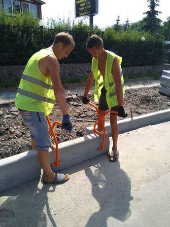 Щипцы захваты клещи для установки дорожных бордюр brukkov
