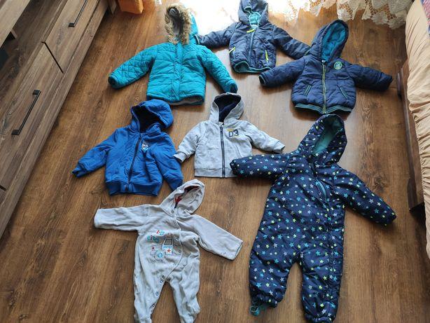 Ubranka dla chłopca kombinezon zimowy, kurtki ,bluzy,body