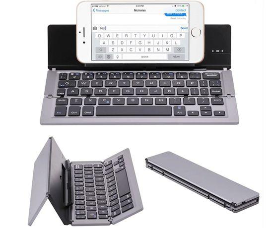 Mini składana klawiatura na bluetooth dla Iphone Ipad podróżna NOWA
