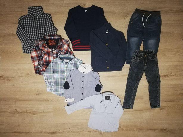 Koszule, sweterki, jeansy chłopięce eleganckie 98/104