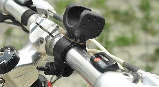 Кріплення поворотне для ліхтарика (ліхтаря) на кермо велосипеда