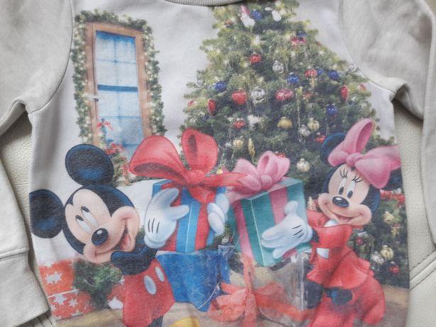 Bluza na święta świąteczna Next myszka Minnie mini 104