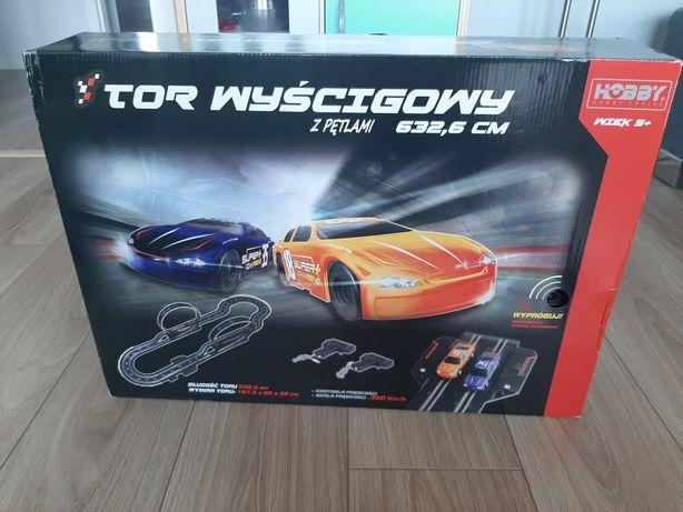 Tor wyscigowy elektryczny hobby 2 pętle 2x samochod sterowany