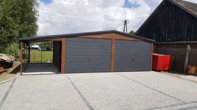 Garaż Podwójny Blaszak Blaszany 6x6Producent Dostawa Montaż Gratis