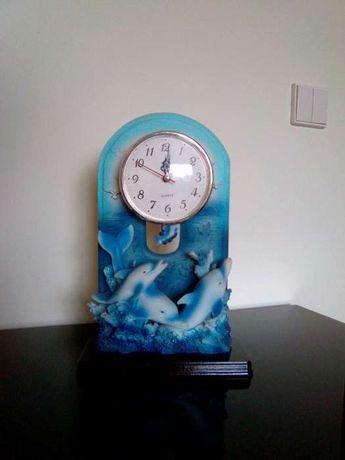 Relógio louça golfinhos
