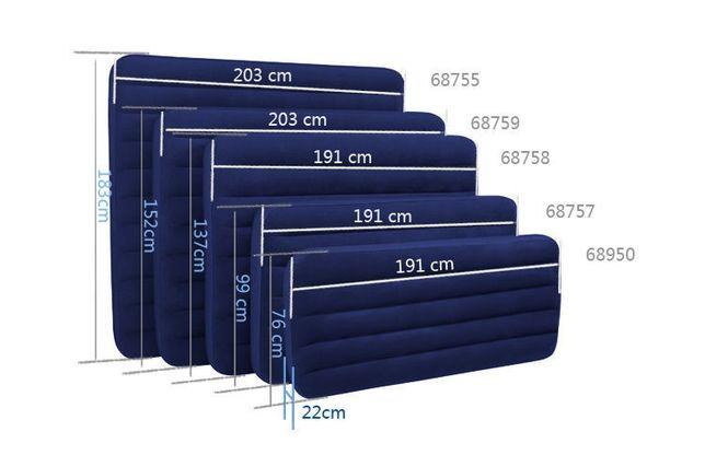 Матрас велюровый надувной Intex Двуспальный и Односпальный 10 видов