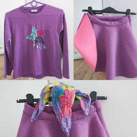 Zestaw spódniczka + bluzka