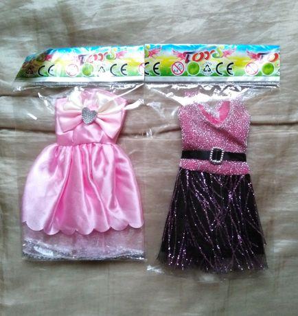 Zestaw dwóch sukienek dla lalki typu Barbie