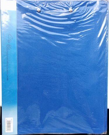 Папка-скоросшиватель А4 пластиковая с двумя зажимами