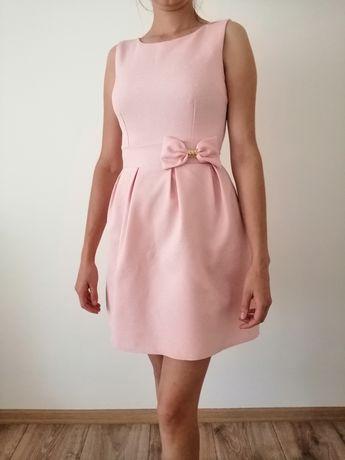 Sukienka pudrowy róż S3