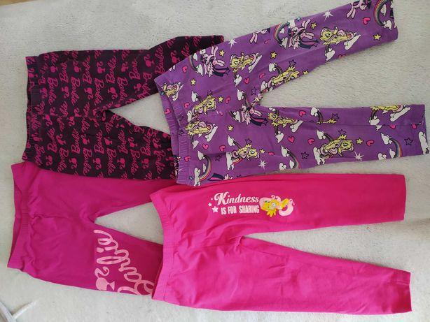 Zestaw leginsy 3/4 barbie i kucyki ponny plus  różowa bluza w snoopy