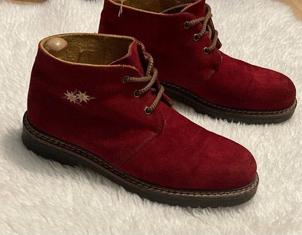 Оригинальные итальянские Короткие ботинки на шнурках .